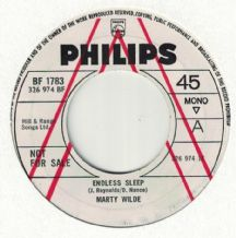 Marty Wilde (Promotional Record) - Endless Sleep c/w Donna